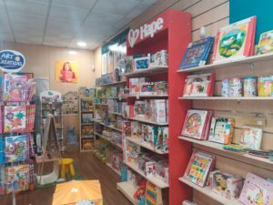 Estanterías franquicias de librerías infantiles