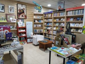 Espacio lector en librería Capitán Letras