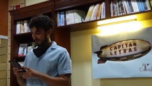 Presentación de un libro de poesía en Madrid
