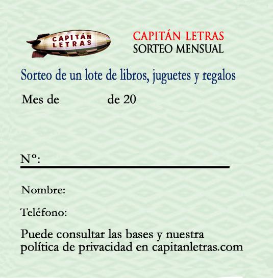 Sorteo Librería Capitán Letras